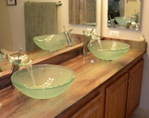 Our design staff will assist you in selecting the vessel sink style that  puts the finishing touch on the image you are looking to create.